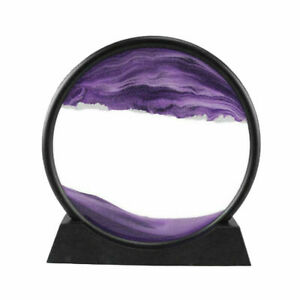 Dynamic Moving Sands Art 3D Deep Sea Flowing Sand Picture Home Decoration-7inch