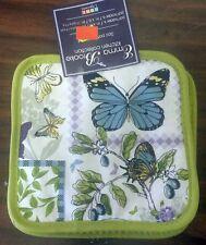 3 pc Kitchen Set incl 1 Jumbo Oven Mitt & 2 Pot Holders, Paris Butterflies by Hd