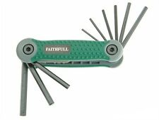 Faithfull FAIHKSF9AF Folding Hexagon Allen Key Set of 9 Imperial 5/64 - 1