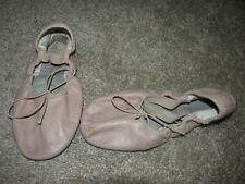Bloch Girls Youth 2 C Pink Leather Split Sole Ballet Slippers Shoes