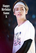 V BTS BANGTAN BOYS NEW PERSONALISED CARD - ANY NAME - A5 SIZE!!  2