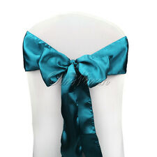 25X Chair Bow Covers Ribbons For Wedding Party Banquet Venue Decorations