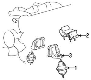 Genuine Toyota Rear Mount 12371-46110