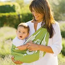 Serena & Lily Baby Market Sling Grass Marigold Green Organic Cotton LARGE