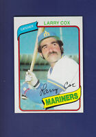 Larry Cox 1980 TOPPS Baseball #116 (NM+) Seattle Mariners