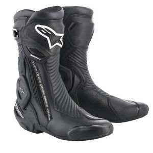 Alpinestars SMX Plus v2 Motorcycle Motorbike Sports Boots Black