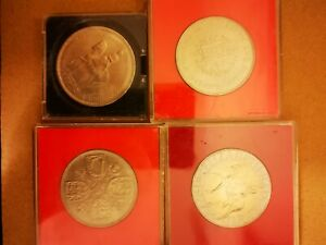 Four Commemorative Crown Coins Including 1953 1960 1972 And 1977