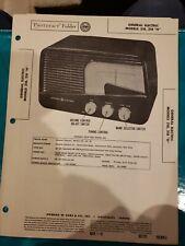 Vintage Repair Paper General Electric Models 218 H Radio