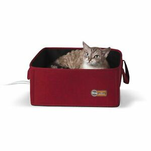 "K&H Pet Products Thermo-Basket Pet Bed Red 15"" x 15"" x 6"""