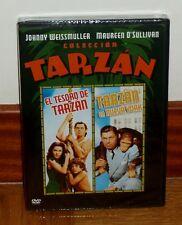 TARZAN - DVD - PRECINTADA - JOHNNY WEISSMULLER - 2 FILMS - EL AUTENTICO