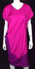 NARCISO RODRIGUEZ Magenta & Purple Crepe Silk Shift Dress 42