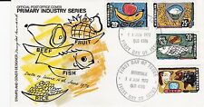 AUSTRAILA 1972 INDUSTRIES Stamp Set Unaddressed FIRST DAY COVER Ref:495