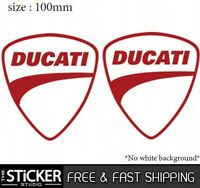 2 x Ducati Logo Sticker Vinyl Motorbike monster