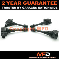 4X FOR NISSAN PRIMERA P12 1.6 (2002-2007) IGNITION COIL PACK HANSHIN TYPE PENCIL
