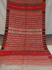 Hand Spun / Hands Woven Khadi Pattu Shawl In Multi Color Wool 1626