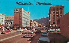Missoula Montana~Broadway~Looking East~Building & Loan~NICE 1950s Cars