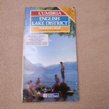 Cumbria English Lake district Touring Map Cumbria Tourist Board 1988