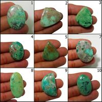 Super Quality Natural Green Chrysocolla Cabochon Loose Gemstone Rare Collection