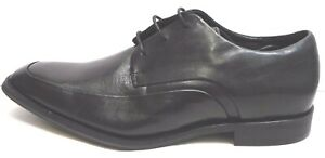 Kenneth Cole Reaction Size 9.5 Black Leather Oxfords New Mens Shoes