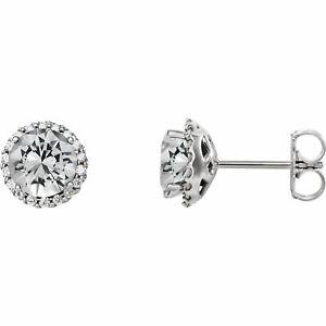Diamond Halo-Style Earrings In Platinum (1/3 ct. tw