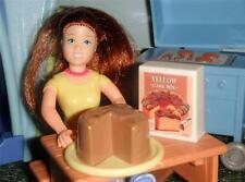 Fisher Price Loving Family Dollhouse Chocolate Cake & Barbie Cake Mix Play Food