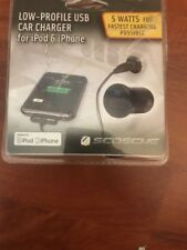Scosche Low-Profile Fast USB Car Charger for iPads and iPhone 3G