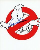 "ERNIE HUDSON & DAN AYKROYD Authentic Hand-Signed ""GHOSTBUSTERS Logo"" 8x10 Photo"
