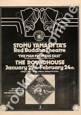 Stomu Yamashta Red Buddha Theatre The Roundhouse MM3 show advert 1973 #3 GHI