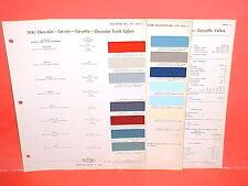 1961 CHEVROLET CORVETTE CORVAIR IMPALA CONVERTIBLE BELAIR BISCAYNE PAINT CHIPS