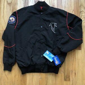 NWT Men's Vintage 90's Starter Atlanta Falcons Black Red Bomber Jacket Sz M VTG