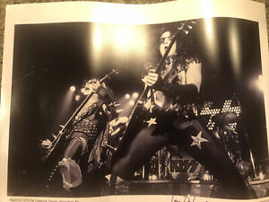 Rare Kiss Photo Signed By Photographer 16x20