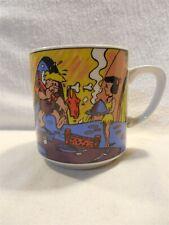 Flintstones 1977 Benelux Ceramic Coffee Mug from Netherlands - Rubble Family
