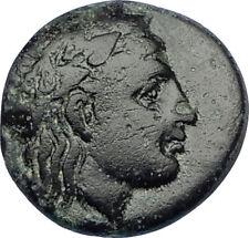 TEMNOS in AEOLIS 2-1CenBC Authentic Ancient Greek Coin APOLLO & GRAPES i65636