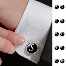 Single Alphabet Letter Cufflink Mens Wedding Party Blouse Shirt Suits Cuff Links