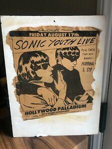 1990 Original LA Weekly Flyer Sonic Youth, Nirvana & Stone Temple Pilots 8/17/90