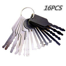 16Pcs Stainless Steel Jiggling Key Car Door Lock Keys Repair Tool Practice Tool