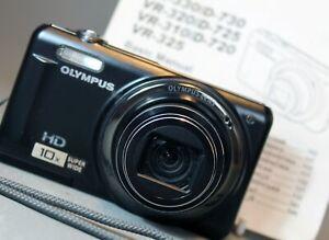OLYMPUS VR-310 Digital Camera 14MP 10x Super Wide Lens 8GB SD Card WORKING Read
