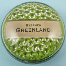 ANTIQUE STEAMER GREENLAND GREENE LINE STEAMERS OHIO SOUVENIR GLASS PAPERWEIGHT