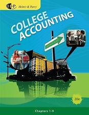 College Accounting, Chapters 1-9 (Available Titles CengageNOW)