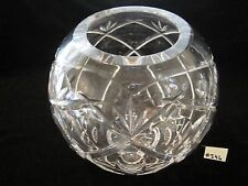 """BEAUTIFUL WATERFORD LARGE """"ROSSAN"""" ROSE BOWL, 7 1/2""""H, 28"""" AROUND, XLNT COND"""