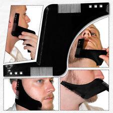 Barba per uomo che modella il modello di strumento per pettine, simmetria, tagli