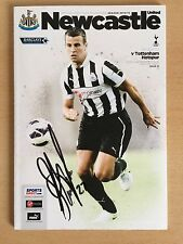 Newcastle United Programme Signed By Steven Taylor