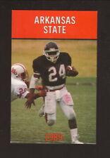 Arkansas State Indians--1989 Football Pocket Schedule--Coke