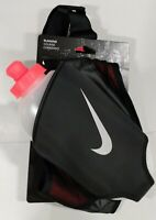 Nike Running Large 20oz Flask Hydration Running Belt, Black / Crimson Adjustable