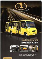 Autosan H7-20 Solina City Bus 2010 Polish Market Single Sheet Sales Brochure