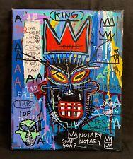 Jean Michel Basquiat Large Painting Original Samo Rare