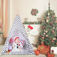 Kids Teepee Natural Cotton Play Tent Tents Playhouse Toddlers Fun For Kids Large