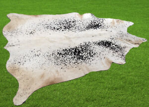 """100% New Cowhide Rugs Area Cow Skin Leather (60"""" x 57"""") Cow hide SA-2937"""