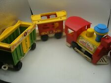 Vintage 1975 Fisher Price little people Play Family TRAIN DU CIRQUE Circus