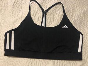 ADIDAS Reversible Sports Bra, Sz L- Black & White
